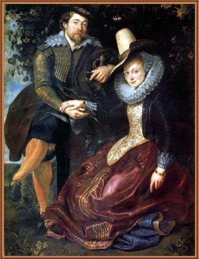 Autorretrato con su esposa Isabel Brant