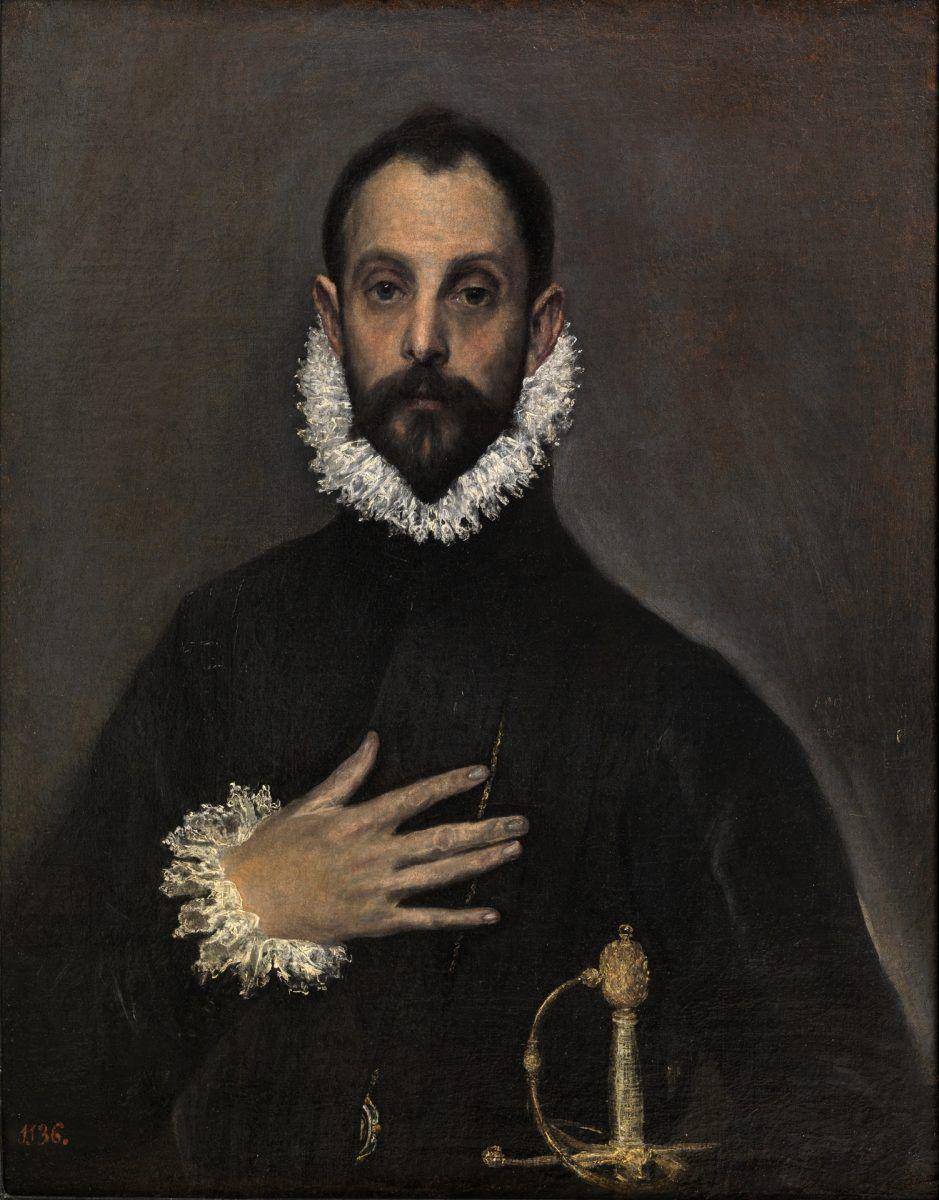 El caballero de la mano en el pecho - Doménikos Theotokópoulos