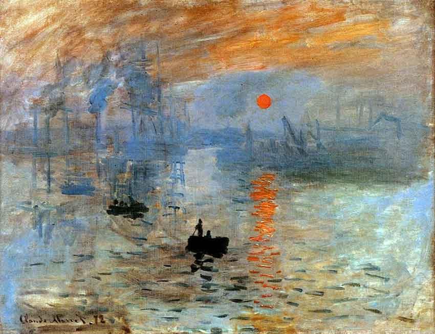 Impresión, sol naciente de Oscar Claude Monet