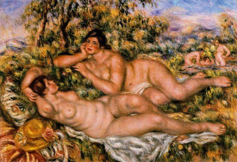 Las grandes bañistas de Pierre Auguste Renoir