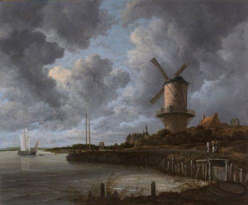 cuadros de Paisajes - El molino de Wijk bij Duurstede
