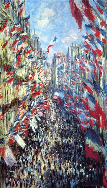 La calle Montorgueil de Oscar Claude Monet