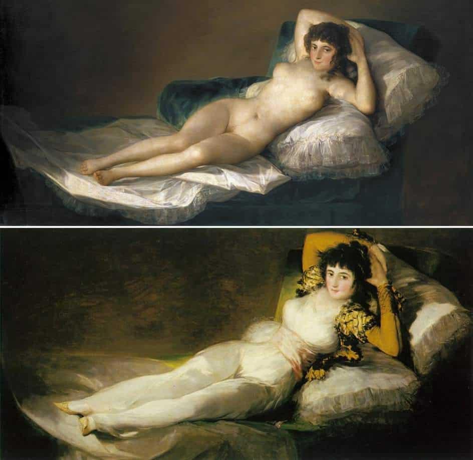 La maja desnuda y La maja vestida de Francisco de Goya