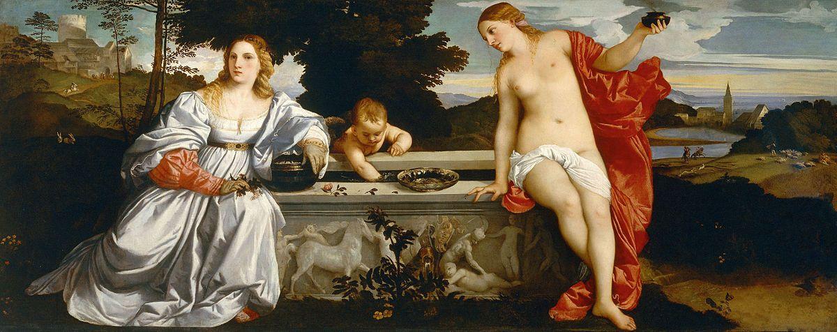 Amor sacro y amor profano de Tiziano Vecellio